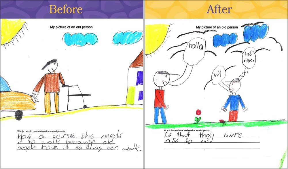 Bridges Together: Everyone Benefits from Intergenerational Connections (Before and After illustration 2)
