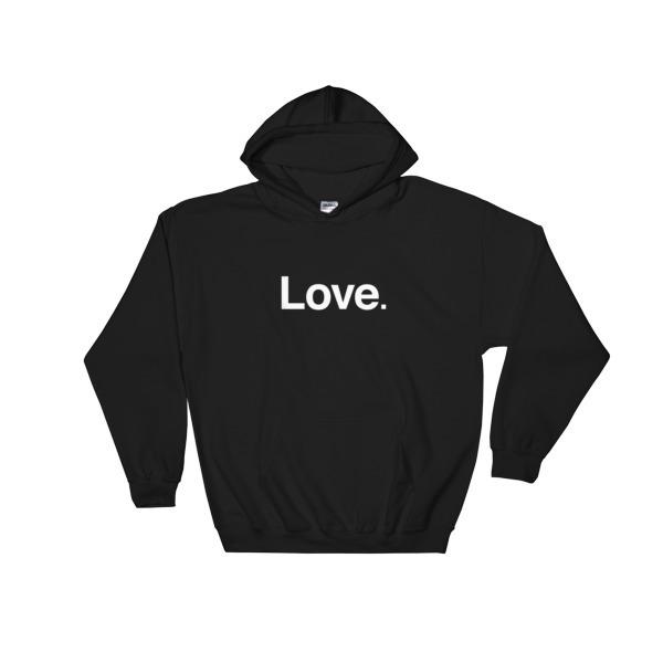 """Love"" Hooded Sweatshirt - ChangingAging 1"