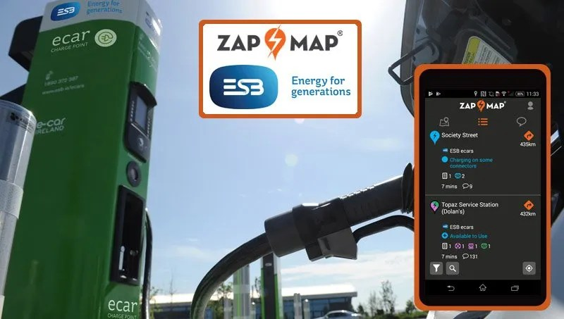 Zap-Map Launches Electric Car Charging App In Ireland