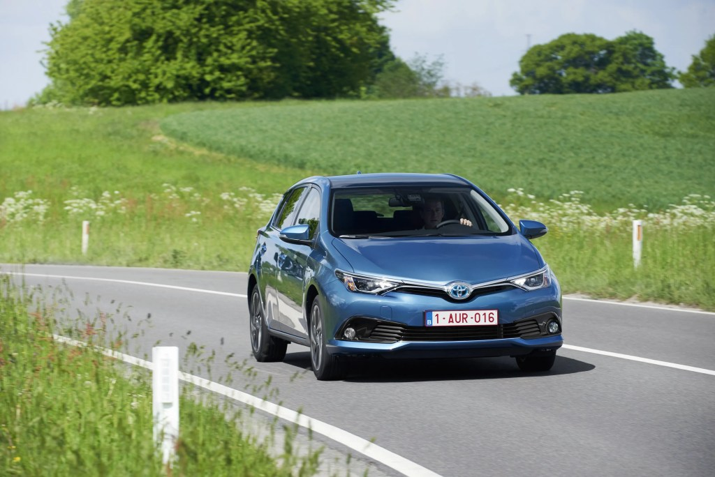 The Toyota Auris petrol hatchback