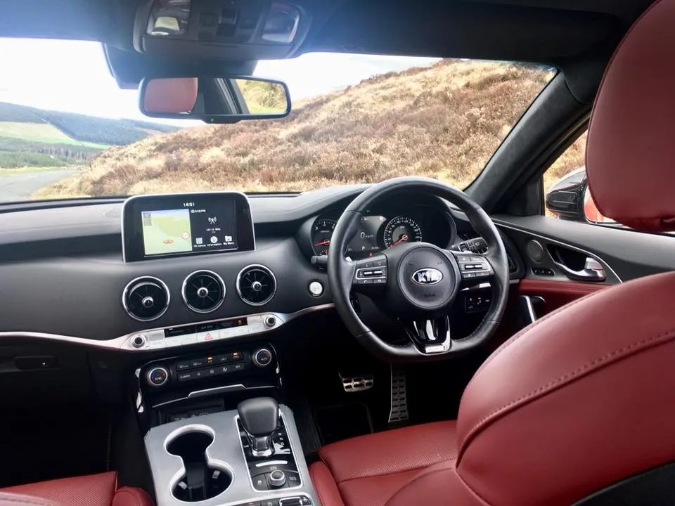 The interior of the Kia Stinger GT