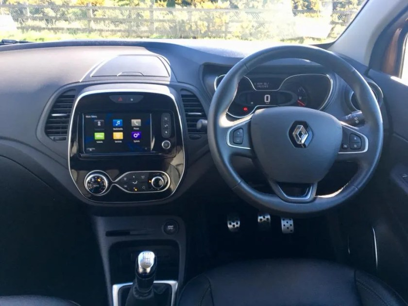 Interior of the Renault Captur