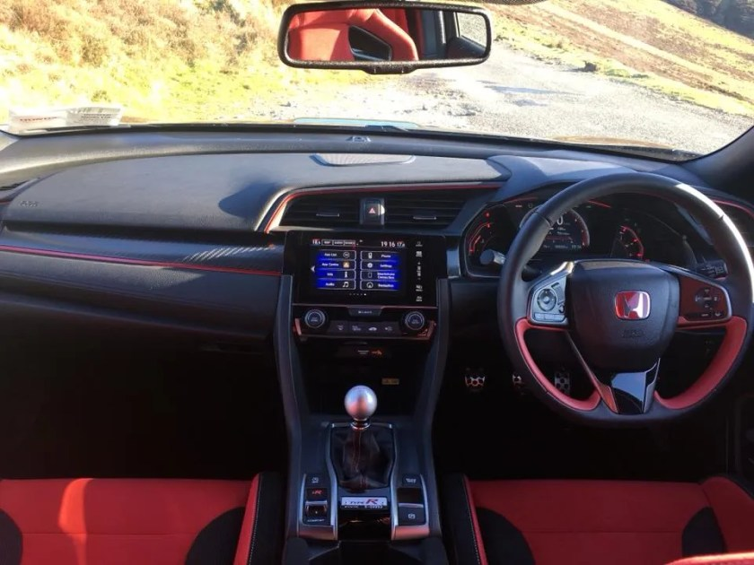 The interior of the Honda Civic Type R