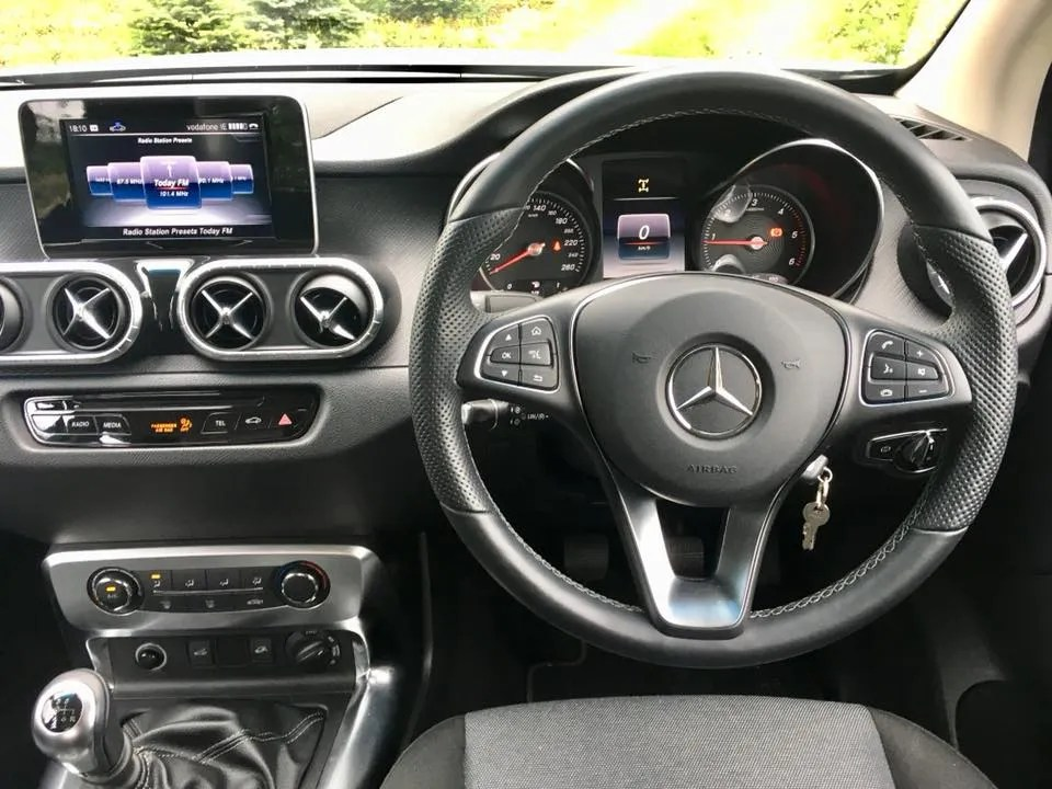 The interior of the new Mercedes-Benz X-Class