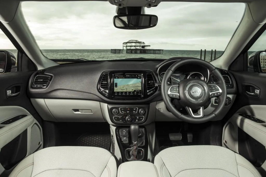 The interior of the 2018 Jeep Compass