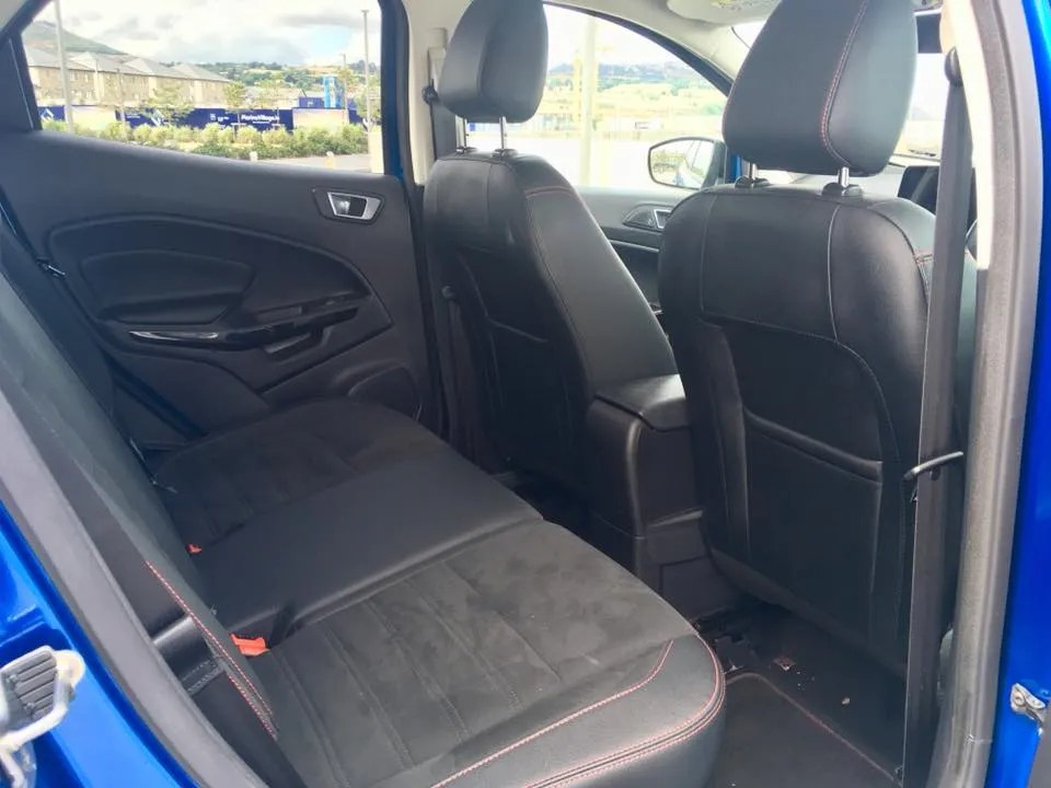 Rear seating in the Ford EcoSport
