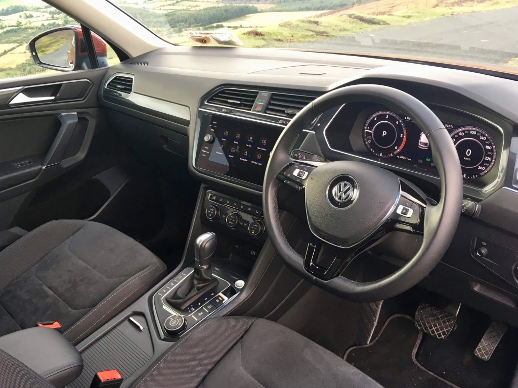 The interior of the Volkswagen Tiguan Allspace
