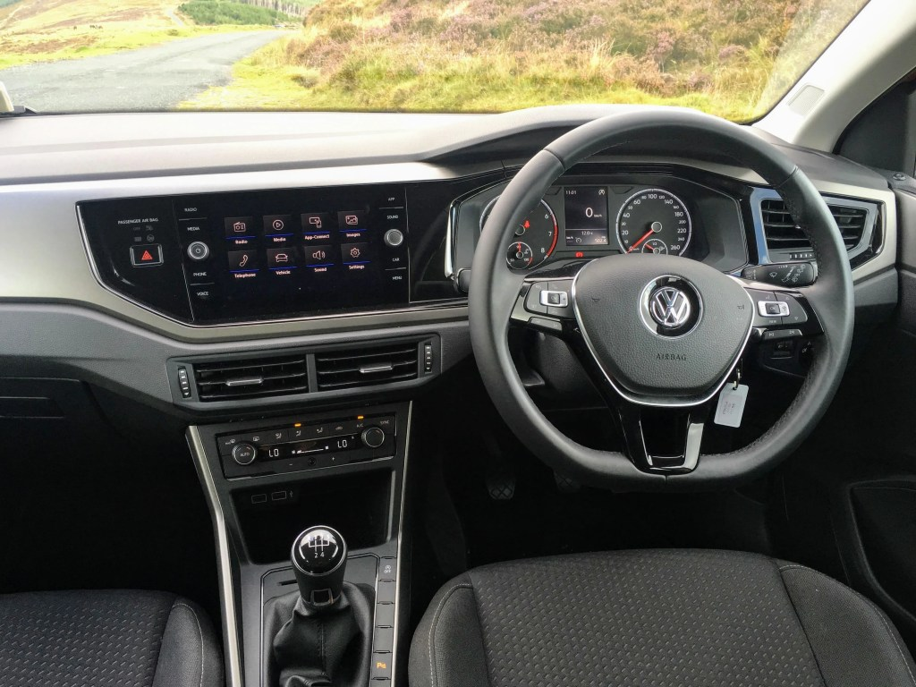 The interior of the new Volkswagen Polo