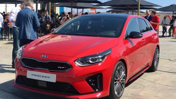 The new Kia ProCeed in Barcelona