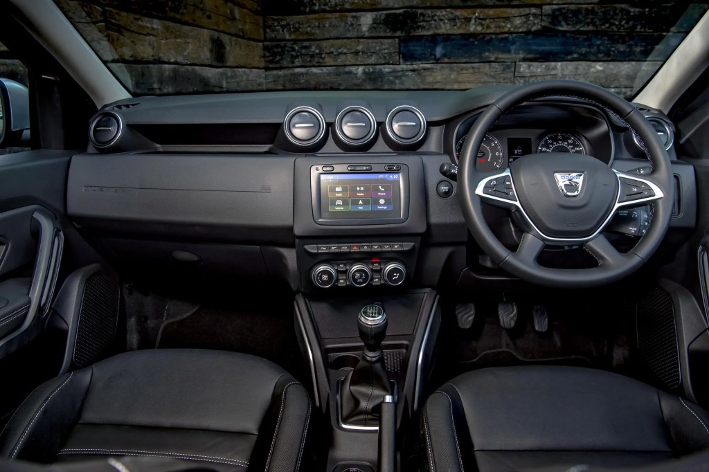 The interior of the 2018 Dacia Duster