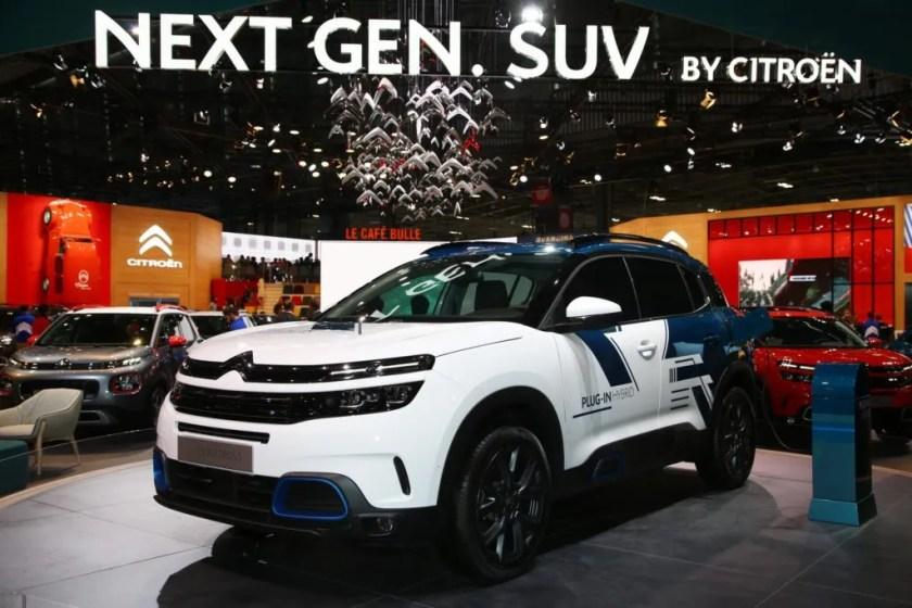 Citroen brought a C5 Aircross plug-in hybrid, expected in Ireland in 2020