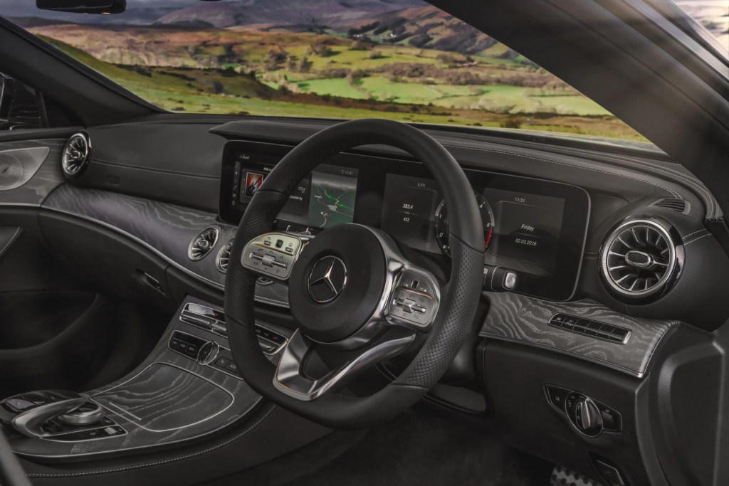 The interior of the new Mercedes-Benz CLS Coupé