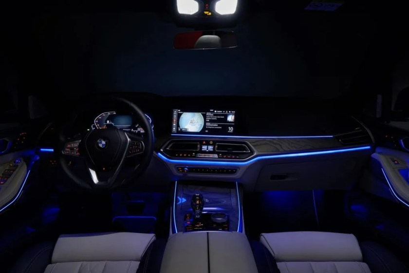 The interior of the new BMW X7