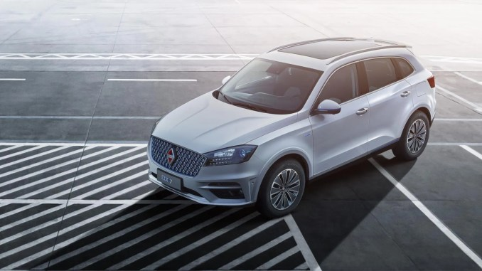 The Borgward BXi7 all-electric SUV