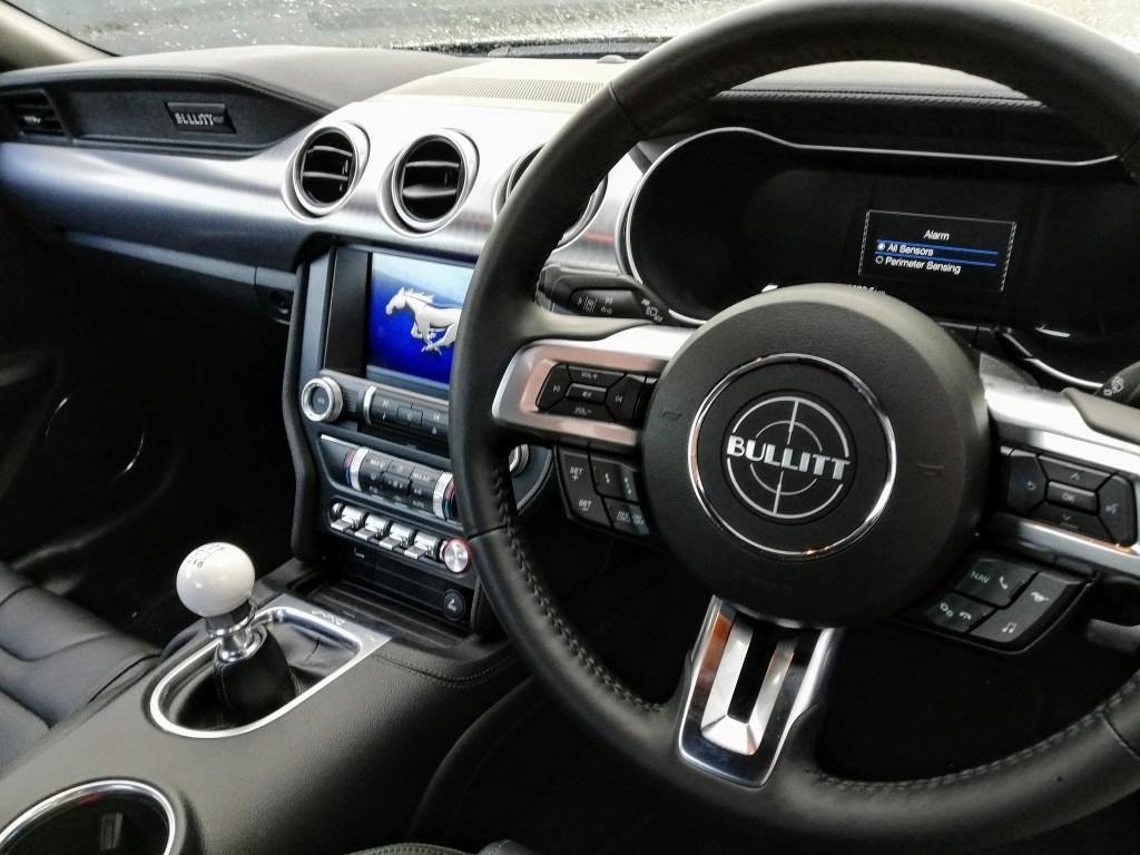 The interior of the new Ford Mustang Bullitt