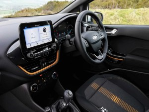 The interior of the new Ford Fiesta Active