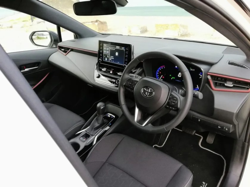The interior of the 2019 Toyota Corolla Hatchback