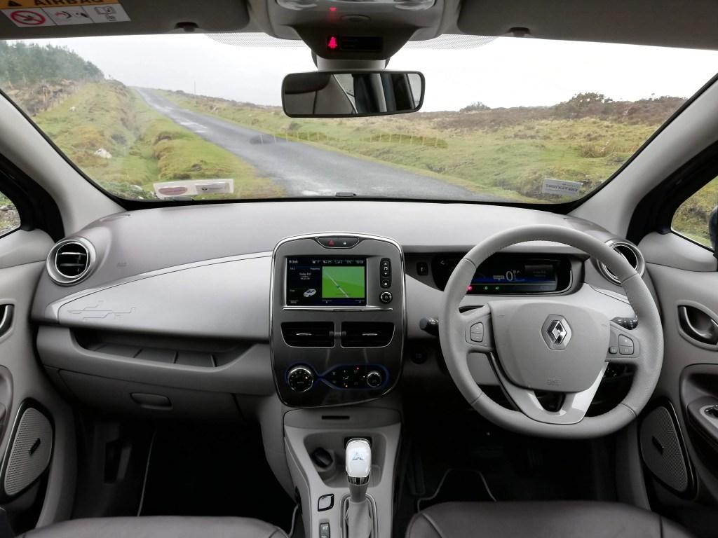The interior of the Renault ZOE Z.E. 40