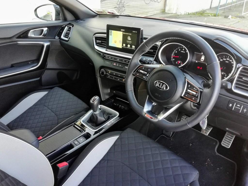 The interior of the Kia ProCeed