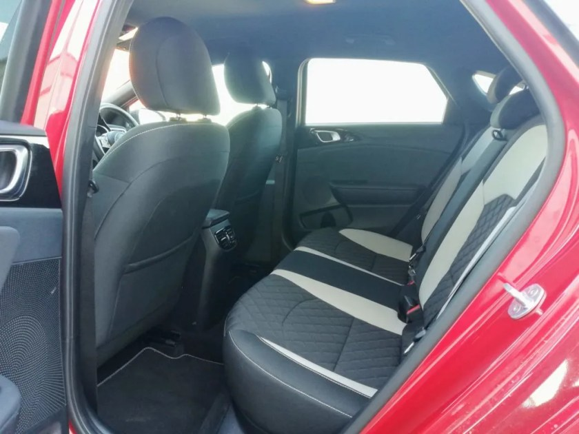 Rear seating in the Kia ProCeed