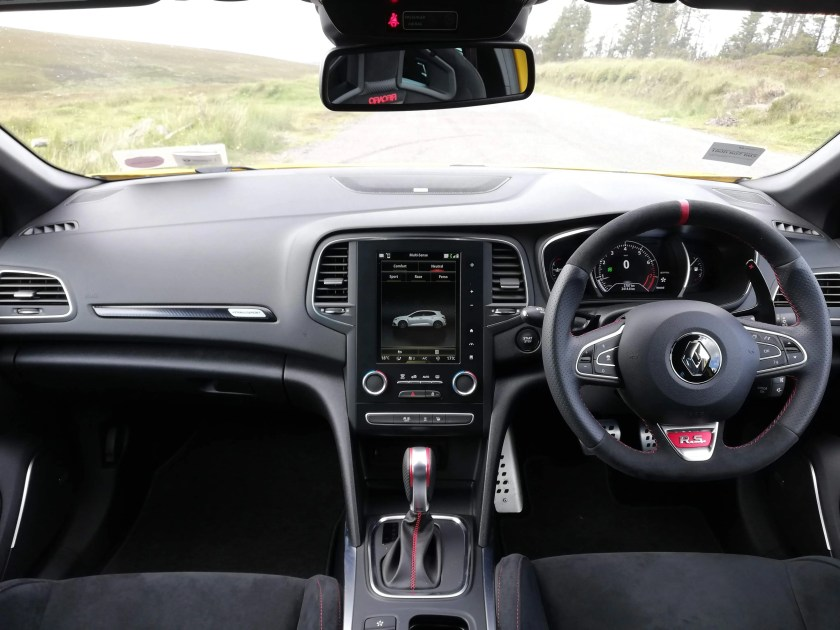 The interior of the Renault Mégane R.S. Trophy
