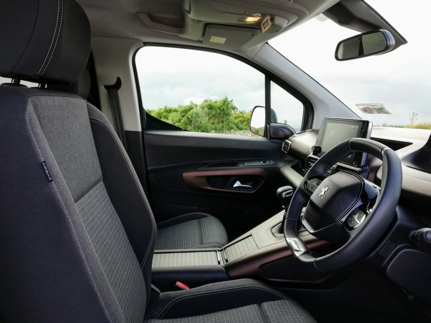 The interior of the new Peugeot Rifter
