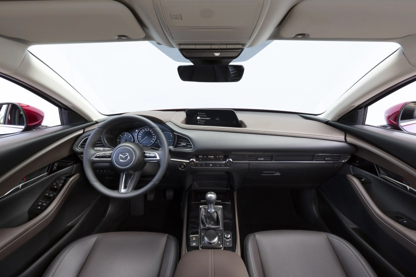 The interior of the new CX-30