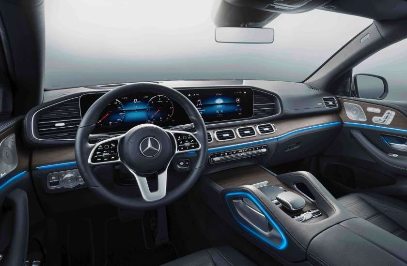 The interior of the new GLE Coupé