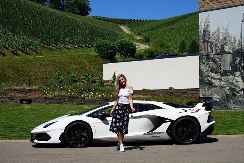 Nina and the Lamborghini Aventador!