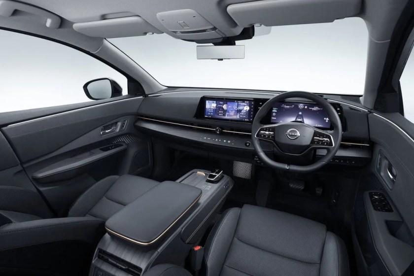 The interior of the Nissan Ariya