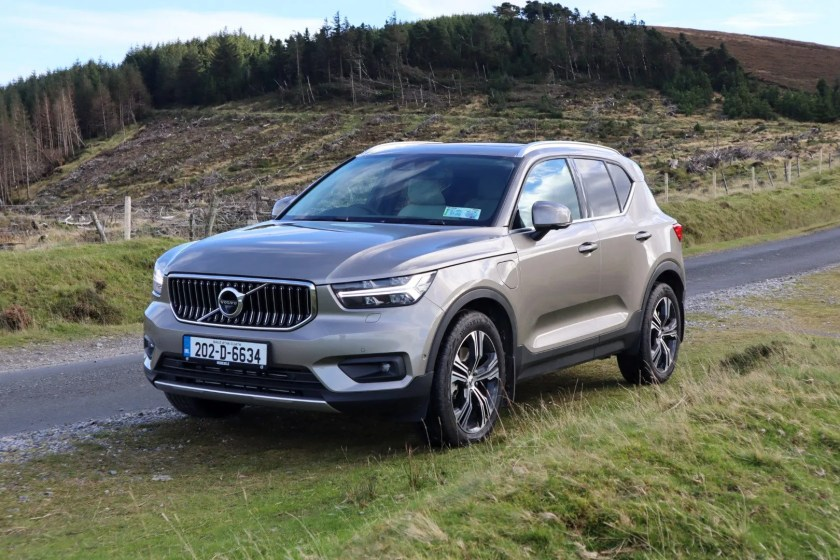 The XC40 plug in hybrid can be driven on pure electric power up to about 46 km.