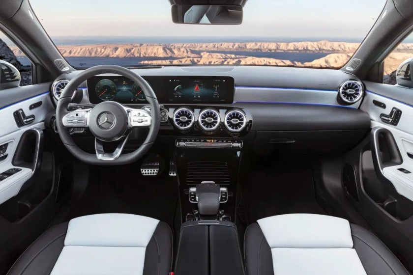 The interior of the 2021 Mercedes-Benz A-Class