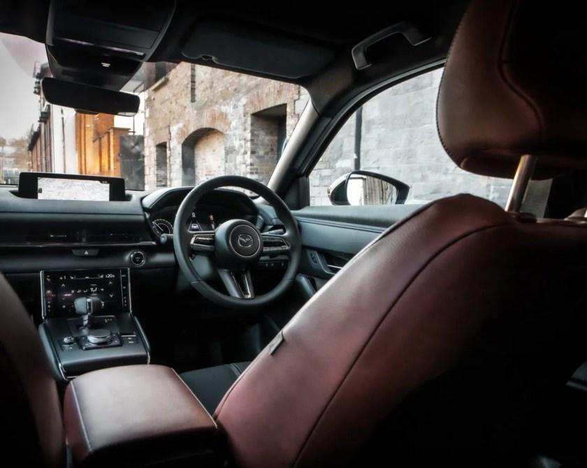 The interior of the 2021 Mazda MX-30