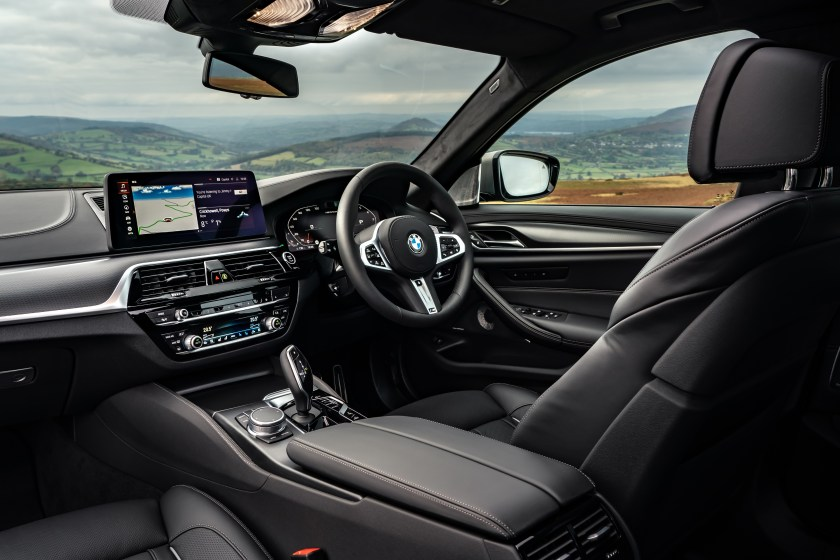 The interior of the 2021 BMW 5 Series