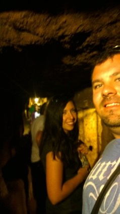 Sneaking a pic inside the Domatilla Catacombs