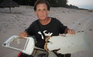 Blaine Gibson with his find on an island in eastern Madagascar