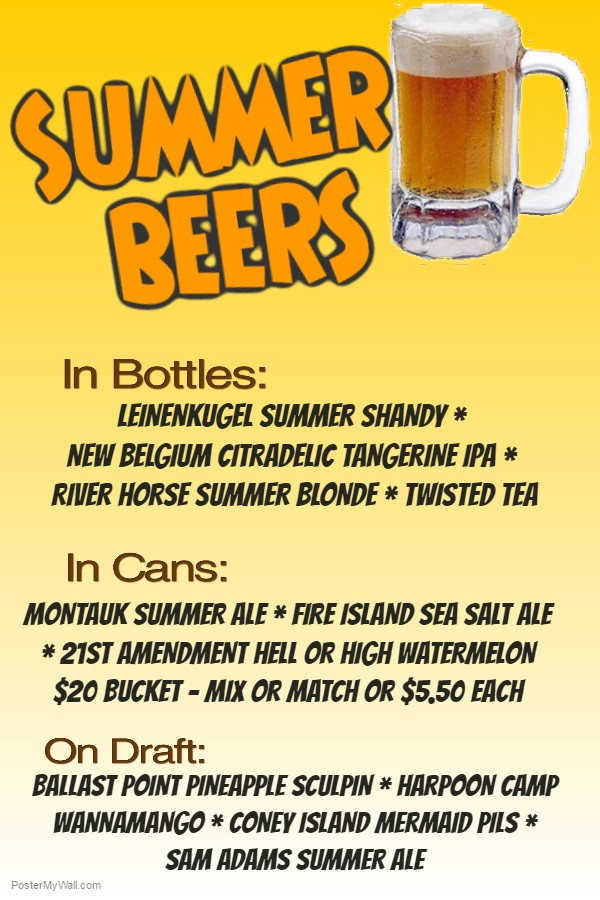 Summer Beer List Farmingdale