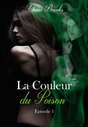 couverture de la couleur du poison. Une femme, dos nu est environnée de fumée verte qui fait très reptile. Un homme est caché derrière l'écran de fumée