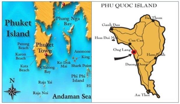 """Cùng vị thế Tây đảo, bất động sản nghỉ dưỡng Tây đảo Phú Quốc được đánh giá là con rồng còn """"ngủ yên"""" so với sự phát triển rực rỡ của Tây đảo Phuket (Thái Lan). Nguồn ảnh: Internet."""
