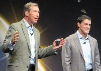 VMware channel chief Dave O'Callaghan (left) and president and COO Carl Eschenbach (right).
