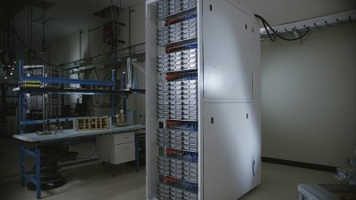 Triton rack in lab