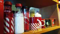 I want that candy cane mug with the whipped cream top!