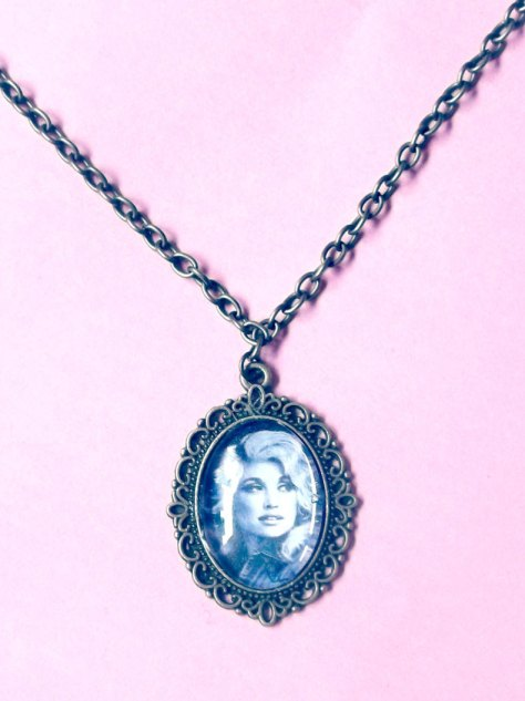 Accessorize with Dolly with the Dolly Parton Cabochon Necklace
