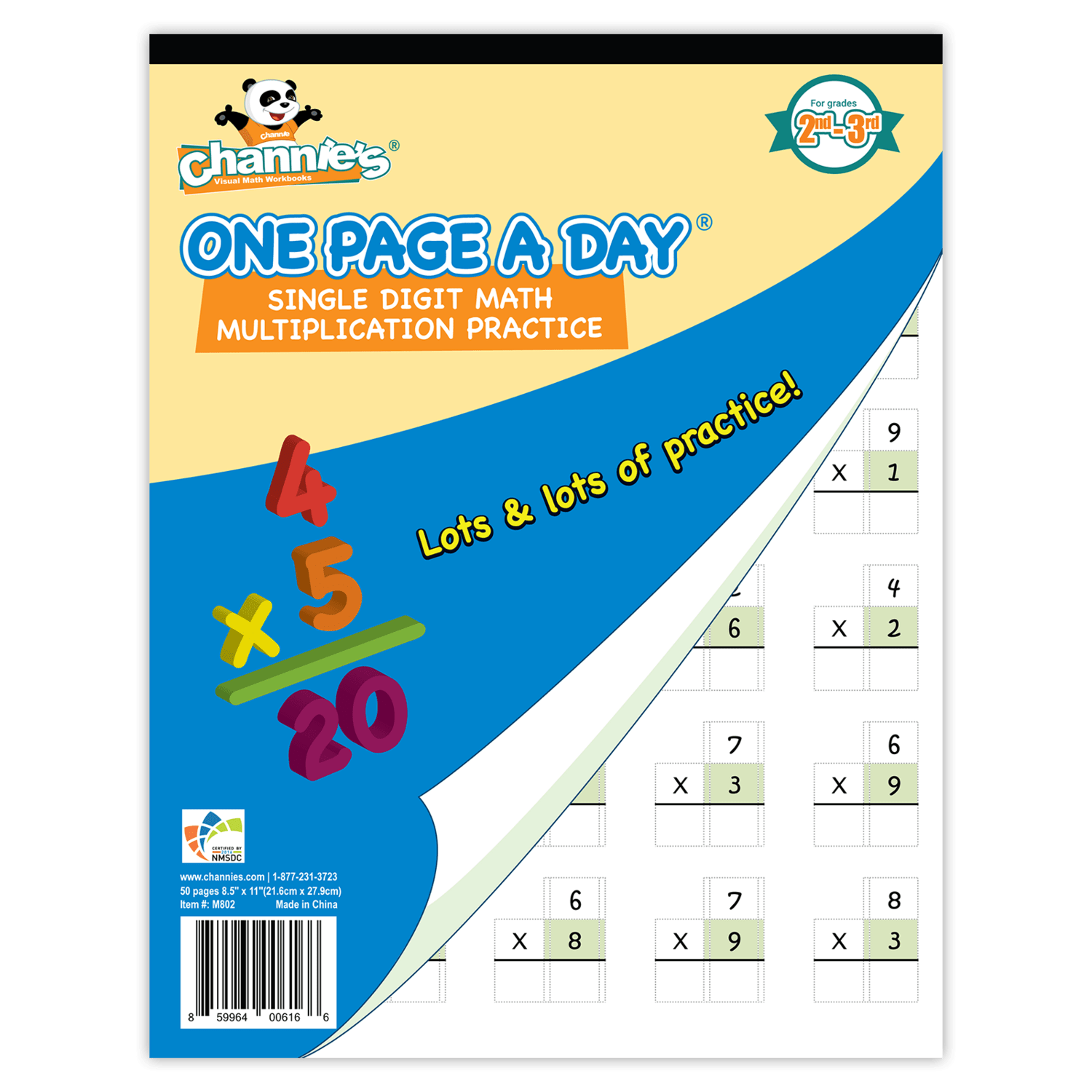 One Page A Day Single Digit Multiplication Math