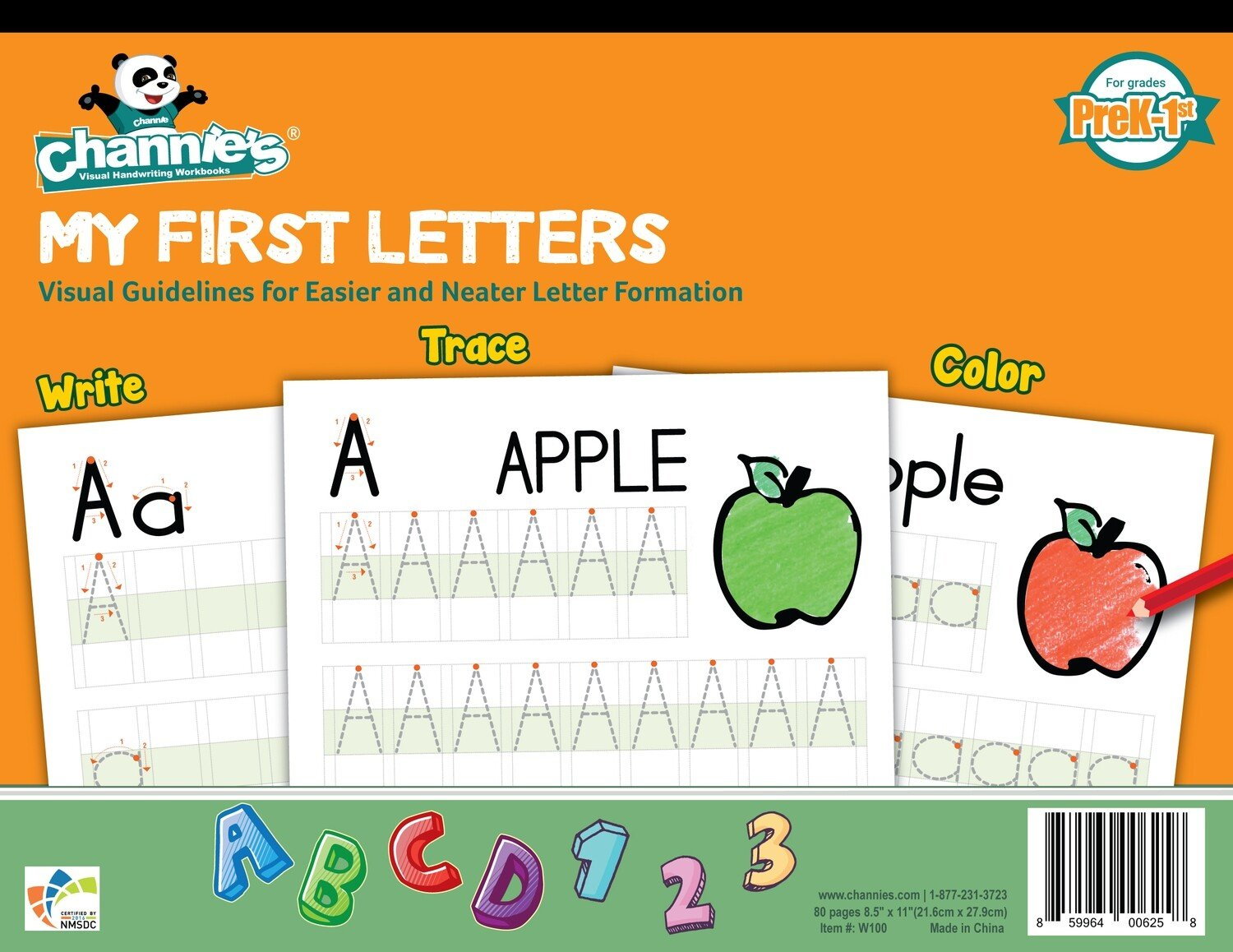 Channie S Beginner S Visual Alphabets Amp Numbers Learning
