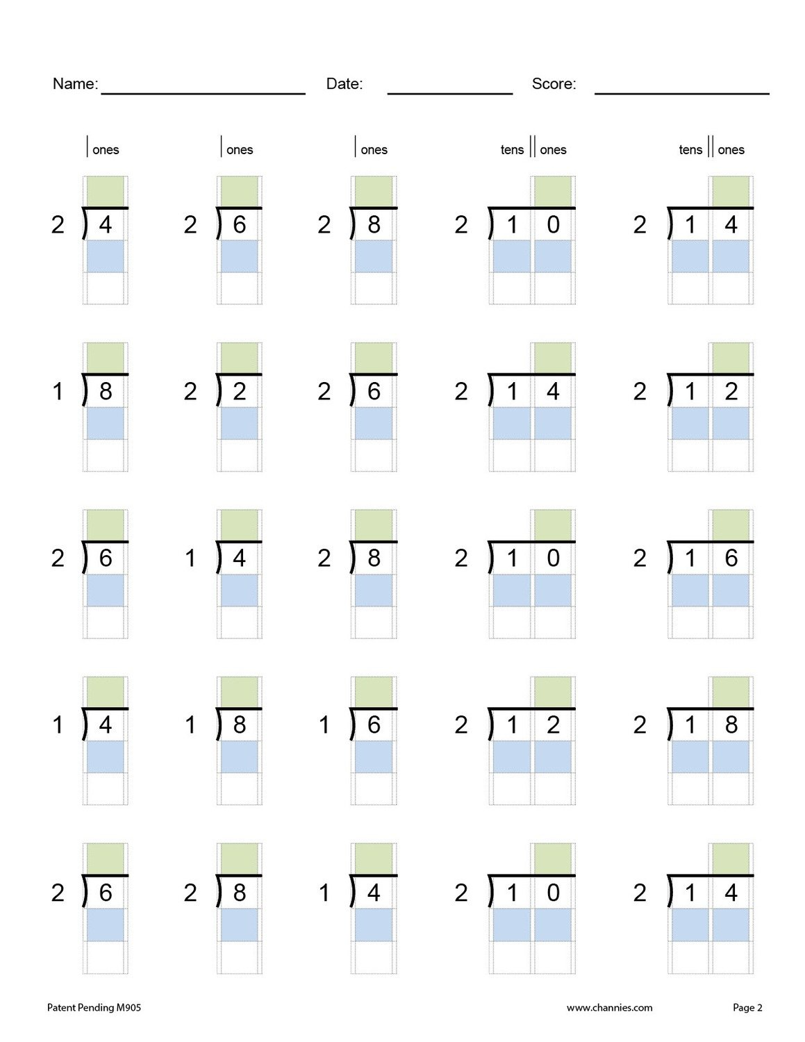 Beginning Division Practice Pages