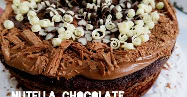 Nutella Chocolate Cake Recipe - Rich Chocolate Fudge Cake with Nutella Topping Perfect for Children's Birthdays or Family Events - Delicious and so worth the calories! www.channongray.com // heythereChannon #recipe #goodfood