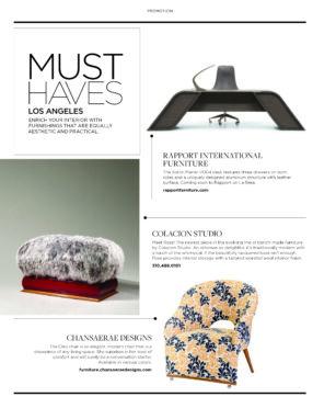 luxe magazine, must have, cleo chair, press, published, interior designer, bowie md, washington dc, virginia, interior designer