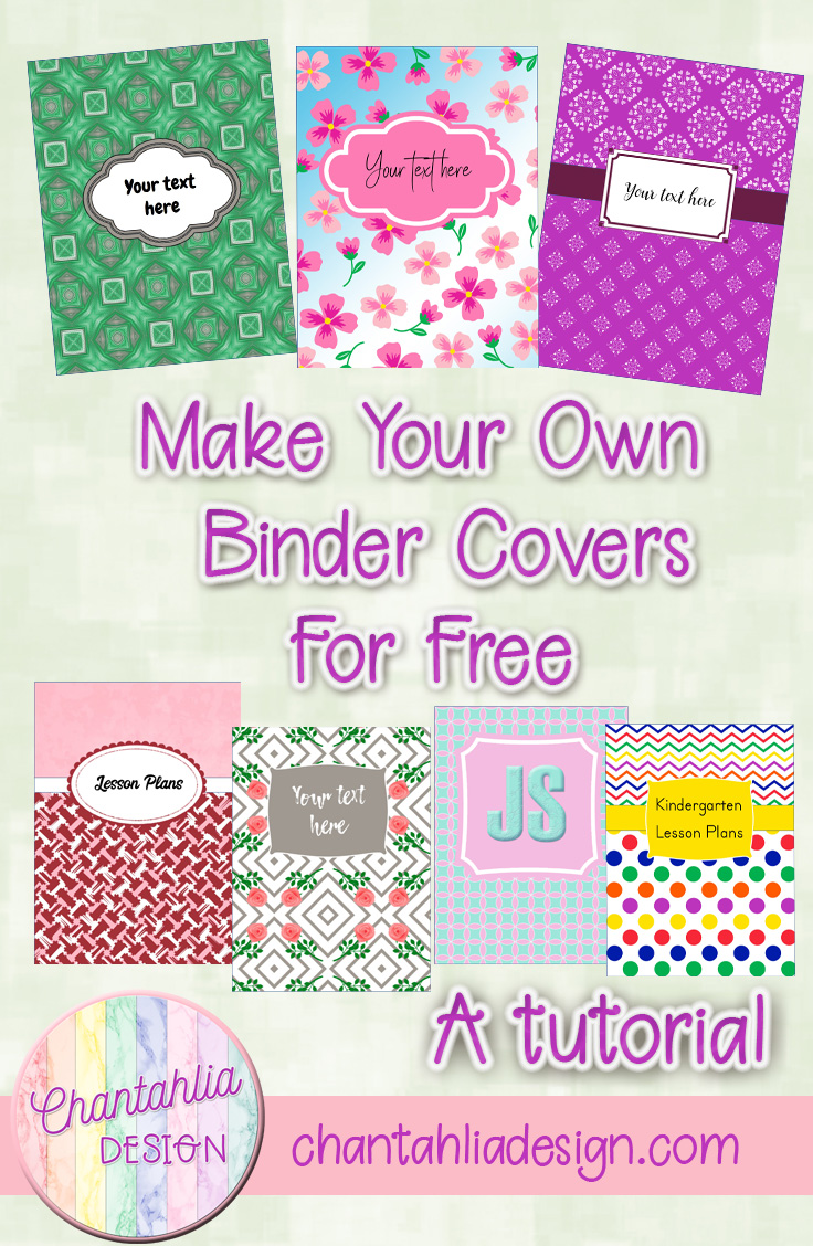 create your own free customized binder covers for free chantahlia