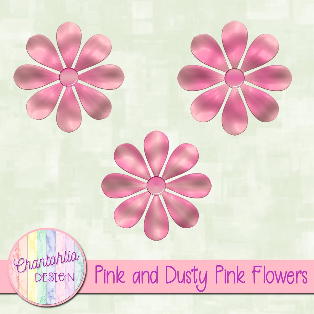 Pink and dusty pink flowers chantahlia design mightylinksfo